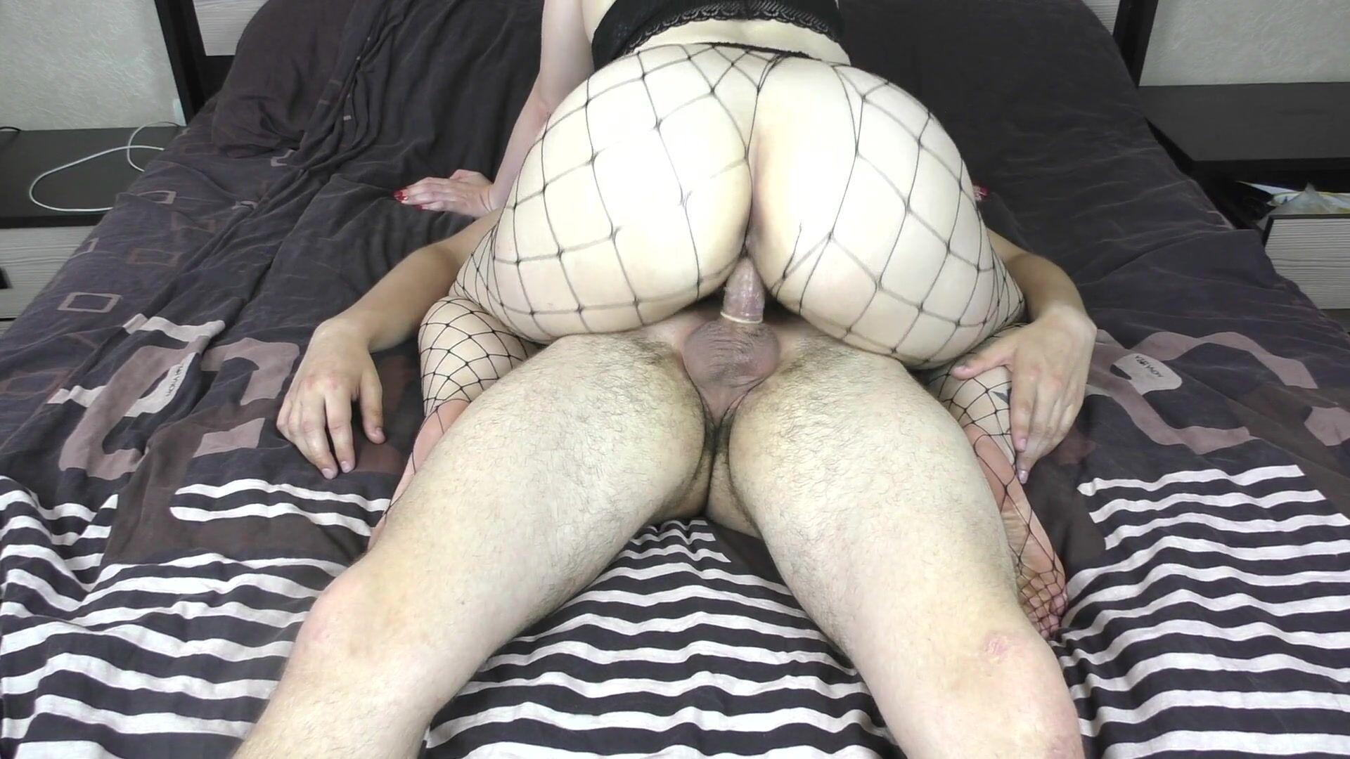 Big ass in nylon