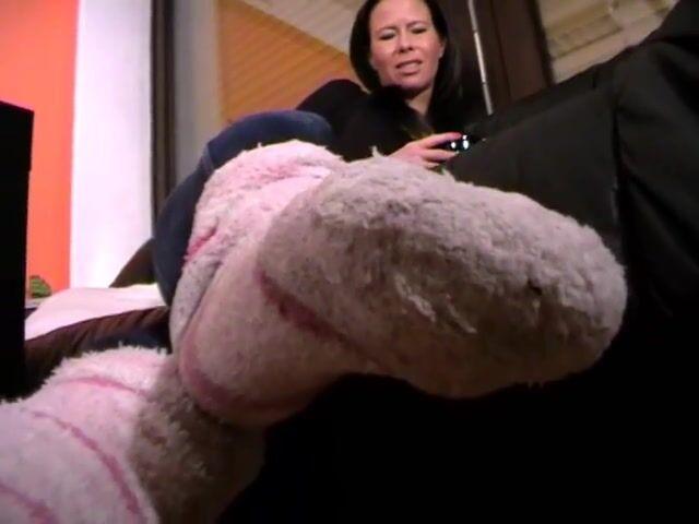 Sweaty fuzzy socks