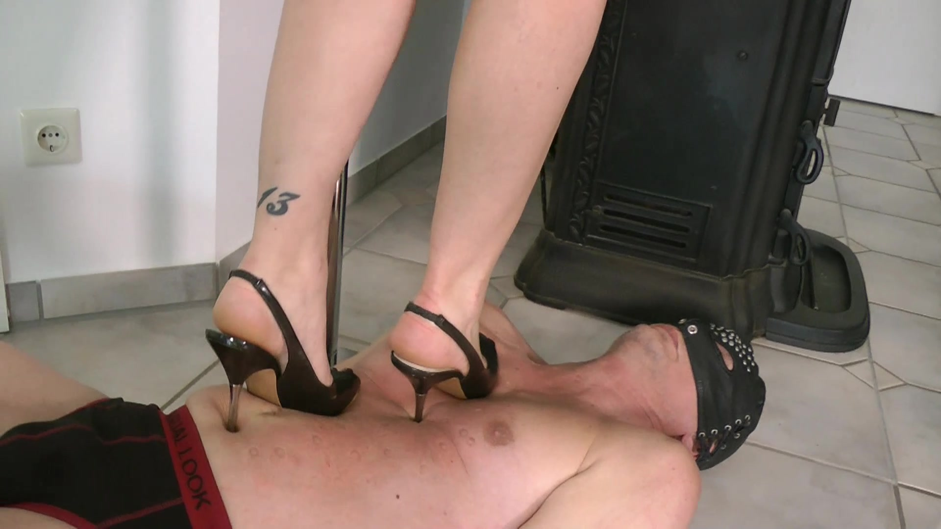 Competitive high heel trampling