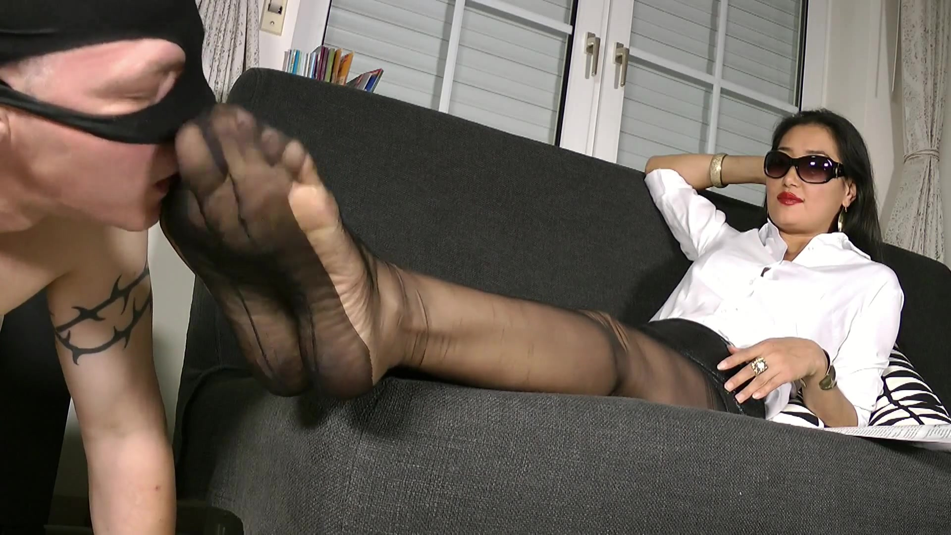 Nylon Feet Tickle Torture